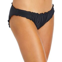Island Soul Juniors Solid Ruffled Edge Swim Bottoms