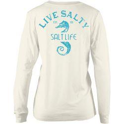 Salt Life Juniors Live Salty Seahorse Long Sleeve T-Shirt