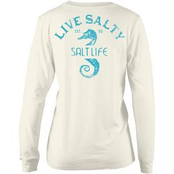 Salt Life Juniors Live Salty Seahorse Long Sleeve T-Shirt