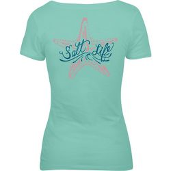 Salt Life Juniors Starfish Logo Screen Print T-Shirt