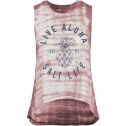 Salt Life Juniors Live Aloha Pineapple Tank Top