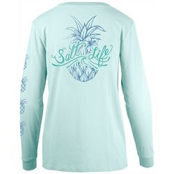 Salt Life Juniors Pineapple Logo Long Sleeve Top