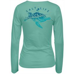 Salt Life Juniors Turtle Island Long Sleeve Top