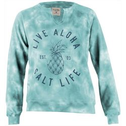 Salt Life Juniors Live Aloha Pineapple Hoodie