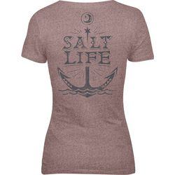 Salt Life Juniors Moon Anchor Tri-Blend Short Sleeve Top