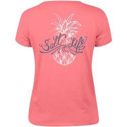 Salt Life Juniors Signature Pineapple Boyfriend T-Shirt