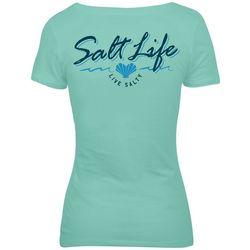 Salt Life Juniors Heart Shaped Shells Live Salty T-Shirt