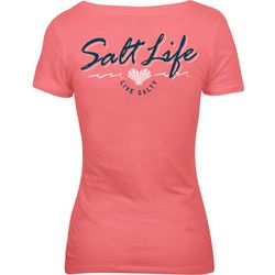 Salt Life Juniors Heart Shaped Shells Live Salty T-Shirt