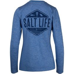 Salt Life Juniors Fish Paddle Long Sleeve Top