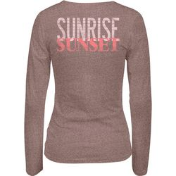 Salt Life Juniors Sunrise Sunset Heathered V-Neck Top