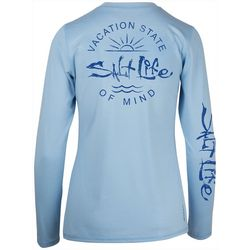 Salt Life Juniors Vacation State Of Mind Performance Top