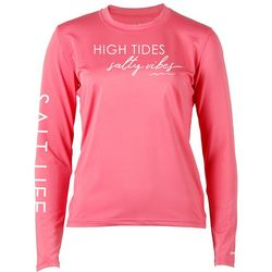 Salt Life Juniors High Tides Salty Vibes Long Sleeve Top