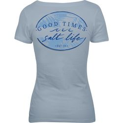 Salt Life Juniors Waves Good Times T-Shirt
