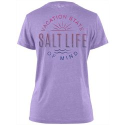 Salt Life Juniors Vacation State Of Mind Burnout T-Shirt