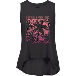 Salt Life Juniors Sunsets & Palm Trees Tank Top