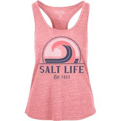 Salt Life Juniors Retro Wave Racerback Tank Top