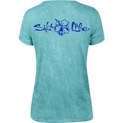 Salt Life Juniors Hibiscus Logo Short Sleeve T-Shirt