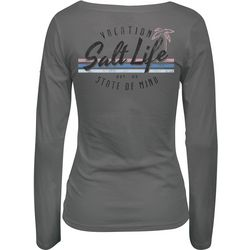 Salt Life Juniors Vacation State Of Mind Long Sleeve Top