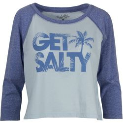 Salt Life Juniors Get Salty Tree Raglan Top