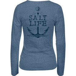 Salt Life Juniors Moon Anchor Tri-Blend Long Sleeve Top