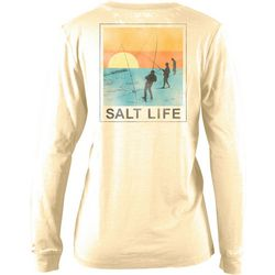 Salt Life Juniors Sunset Cast Sunburnt Long Sleeve Top