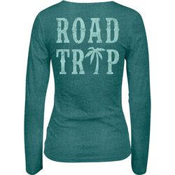 Salt Life Juniors Road Trip Tri-Blend V-Neck Top