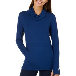 Juniors Ultra Comfort Solid Cowl Neck Top