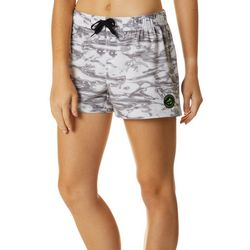 Juniors Halftone Camo Graphic Print Boardshorts