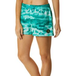 Loco Skailz Juniors Icy Grouper Graphic Print Boardshorts