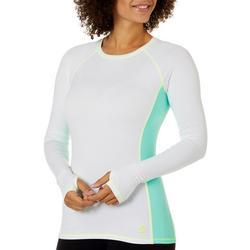 Juniors Solid Colorblock Long Sleeve Top