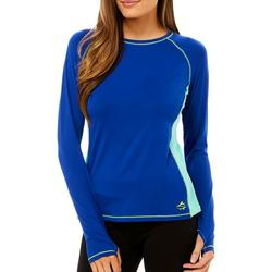 Juniors Solid Colorblock Long Sleeve Top