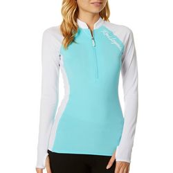 Reel Legends Juniors Keep It Cool Colorblock Rashguard Top