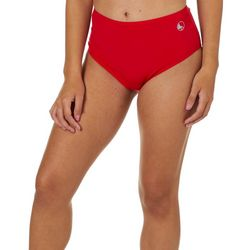 Reel Legends Juniors High-Waist Solid Swim Bottoms