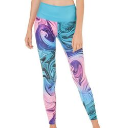 Reel Legends Juniors Keep It Cool Swirled Crop Leggings