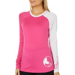 Reel Legends Juniors Keep It Cool Colorblock Logo Top