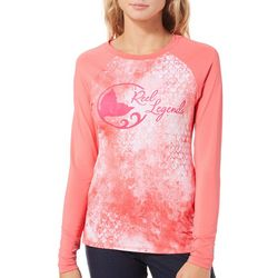 Reel Legends Juniors Keep It Cool Marbled Scale Logo Top