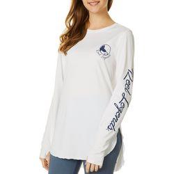 Juniors Marina Cover Up Long Sleeve Top