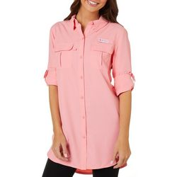 Reel Legends Juniors Gulfshore Solid Button Down Top