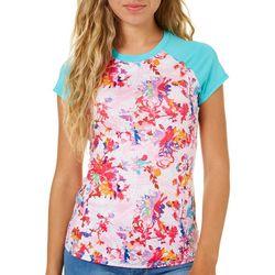 Reel Legends Juniors Keep It Cool Floral Short Sleeve Top
