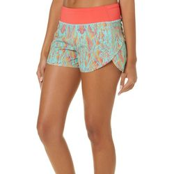 Reel Legends Juniors Keep It Cool Tropical Leaf Beach Shorts