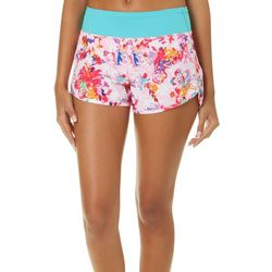 Reel Legends Juniors Keep It Cool Floral Print Beach Shorts