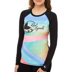 Reel Legends Juniors Retro Color Block Swim Shirt