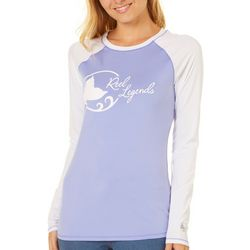 Reel Legends Juniors Keep It Cool Logo Colorblock Top