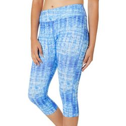 Reel Legends Juniors Keep It Cool Breezy Batik Crop Leggings
