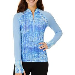 Juniors Breezy Batik Long Sleeve Top