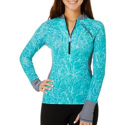 Juniors Water Reflection Long Sleeve Top