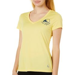 Juniors Heathered Logo V-Neck T-Shirt