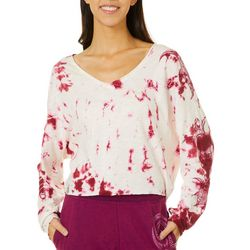 Maori Hook Juniors Tie Dye Cropped Long Sleeve Top
