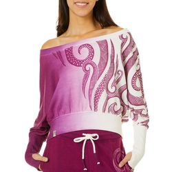 Maori Hook Juniors Ombre Print Tribal Detail Long Sleeve Top