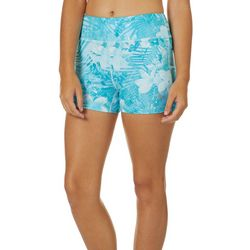 Juniors Keep It Cool Tropical Hibiscus Shorts